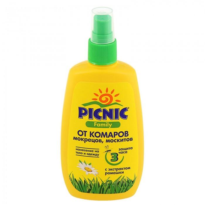 Средства от насекомых Picnic Family Спрей от комаров 120 мл средство акарицидное защита от клещей super picnic 125 мл
