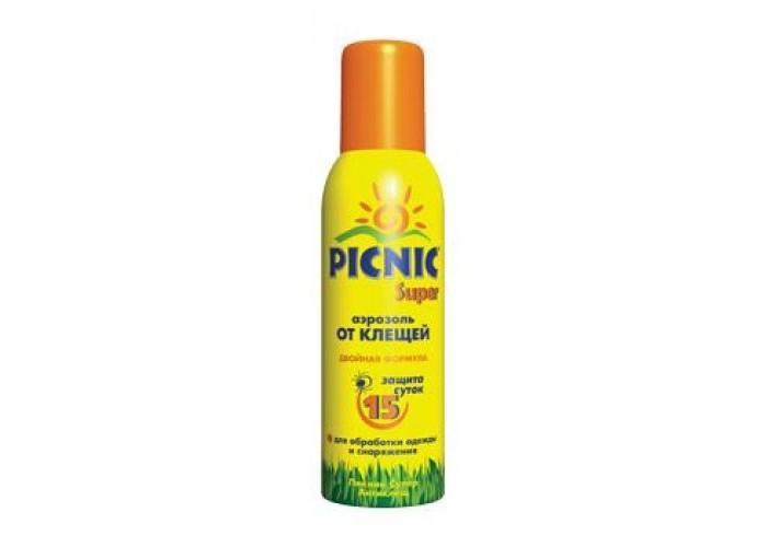 Средства от насекомых Picnic Family Акарицидное средство Super от клещей 125 мл средства от насекомых picnic hypoallergenic крем гель с пантенолом 30 мл