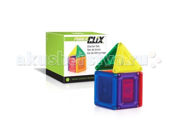 Конструкторы Guidecraft магнитный PowerClix Solids Начальный набор 6 деталей шорты element element el003emtia01