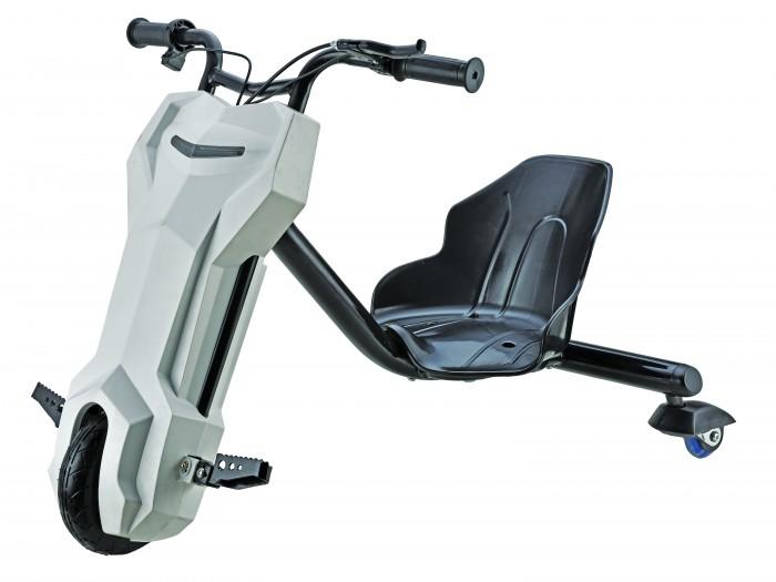 Электромобиль Gyro Дрифт-байк детскийДрифт-байк детскийЭлектромобиль Gyro Дрифт-байк детский своеобразный трехколесный велосипед с мотором. Ребенку больше не придется крутить педали, а нужно только зарядить аккумулятор, приводящий в движение мотор байка и нажать на рычажок запуска двигателя. Рама этого чудо-велосипеда выполнена из прочного металла, а его удобное эргономичное сиденье - из пластика.  Дрифт-байк отличается от велосипеда еще и тем, что его задние колесики имеют намного меньший размер, чем переднее колесо и могут крутиться вокруг своей оси. Поэтому на нем можно не только просто ездить, но и выполнять различные трюки, благодаря такой подвижной конструкции колес.  На полностью заряженном аккумуляторе дрифт-байк Gyro может проехать не менее 10 километров, развивая скорость до 10 километров в час. На нем можно кататься детям возрастом от шести лет и старше, детский байк выдерживает вес до 50 килограмм.  Особенности: аккумулятор свинцово-кислотный 12В/6.5Ач макс. нагрузка 50 кг свет диаметр колес: 8/3 материал: пластик/сталь размер (см): 67 х 27 х 28 масса (кг): 13 мощность: 100 Вт максимальная скорость: 10 км/ч максимальная дальность: 10 км привод: мотор-редуктор.<br>