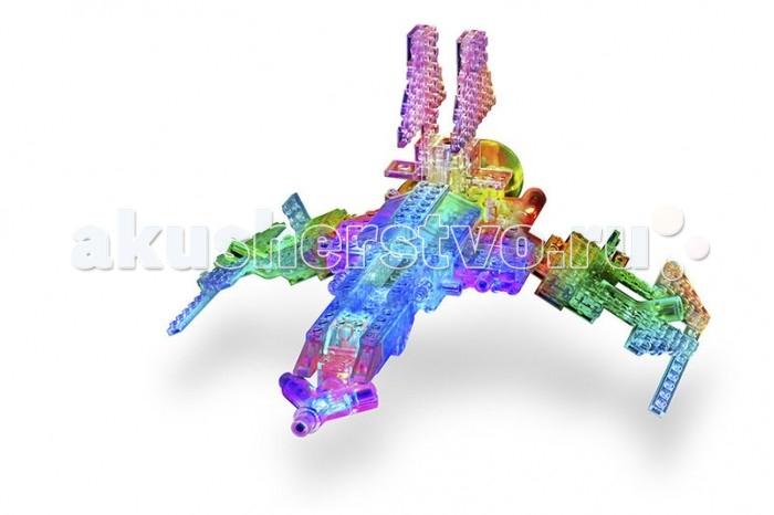 Конструктор Laser Pegs Набор 16 в 1 КосмосНабор 16 в 1 КосмосLaser Pegs Набор 16 в 1 Космос – это замечательный подарок как мальчику,так и девочке, который включает в себя 16 инопланетных существ, роботов и трансформеров!  Ребенок с большим удовольствием построит своего личного робота, а затем перестроит его в космический корабль. Еще интереснее игру делают детали со встроенными светодиодами, благодаря которым игрушка по-новому увлекает детей. Фантазия ребенка безгранична, как сама вселенная, поэтому количество всевозможных моделей увеличивается в несколько раз! Конструктор со светодиодами Laser Pegs стимулирует творческое и пространственное мышление, тренирует мелкую моторику рук.  В комплекте: 20 деталей со светодиодами 82 строительных деталей треугольный адаптер – база провод инструкция по сборке.<br>