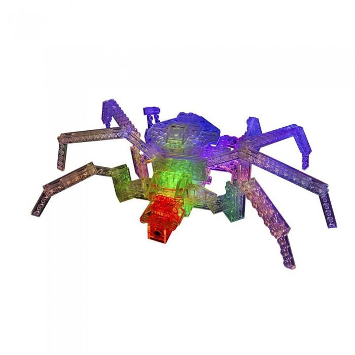 Конструктор Laser Pegs Набор 12 в 1 ПаукНабор 12 в 1 ПаукLaser Pegs Набор 12 в 1 Паук – отличный подарок для мальчиков и девочек различного возраста. С этим конструктором ребята смогут собрать разнообразные фигуры насекомых.  Из деталей со светодиодами ребенок увлеченно создаст фигурки паука, стрекозы, скорпиона и других фантастических существ, даже тех, которые пока были только у него в фантазиях. А выключив свет, детей захватит еще более эффектное зрелище, ведь модели конструктора будут светиться разными цветами! Конструктор со светодиодами Паук, 12 в 1 способствует развитию мелкой моторики рук, пространственного и творческого мышления, воображения.  В комплекте: 15 деталей со светодиодами 148 строительных деталей треугольный адаптер – база инструкция по сборке.<br>
