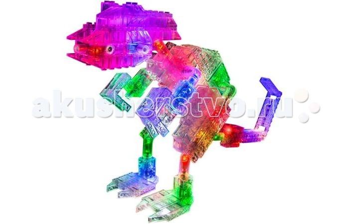 Конструктор Laser Pegs Набор 24 в 1 ДинозаврыНабор 24 в 1 ДинозаврыLaser Pegs Набор 24 в 1 Динозавры - Ваш ребенок сможет прикоснуться к таинственному миру, существовавшему миллионы лет до н.э. При помощи деталей конструктора и инструкции можно собрать таких представителей доисторической эпохи как Бронтозавр, Стегозавр, Велоцираптор и многих других.  Подключите получившуюся модель к источнику питания, и она порадует вас ярким свечением. Готовую постройку можно использовать как ночник. Конструктор выполнен из прочного пластика, строительные элементы отличаются точностью и легкостью сборки. В наборе Гео Динозавры Вы найдете 27 деталей со светодиодами, 191 прозрачную строительную деталь, треугольную базу питания и инструкцию.  Конструктор совместим со всеми сериями Laser Pegs® Для работы светодиодов необходимы 3 батарейки АА, батарейки в набор не включены. Новинка! С USB шнуром можно не использовать батарейки! Подключите шнур к треугольной базе и конструктор засветится от сети!<br>