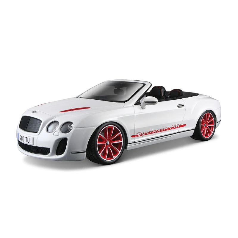 Bburago Машина Bentley Continental Supersport ConvertibleМашина Bentley Continental Supersport ConvertibleМашина Bburago Bentley Continental Supersport Convertible – это копия настоящего автомобиля с полной детализацией всех частей.  Игрушка выполнена из высококачественного металла и пластика. Детали и края аккуратно обработаны.   Коллекционные машинки Бураго развивают у ребенка развивают координацию движений и меткость, пространственное и образное мышление, воображение, мелкую моторику. С мини-модельками автомобилей Bburago игра станет настолько увлекательной, что оторваться будет невозможно!   Компания Bburago – мировой лидер в производстве коллекционных моделей автомобилей. Более 30 лет профессиональные дизайнеры Bburago разрабатывают точные копии современных машин и ретро машин известных марок. С автомобилями Bburago можно не только играть, но и сделать их частью своей коллекции!<br>