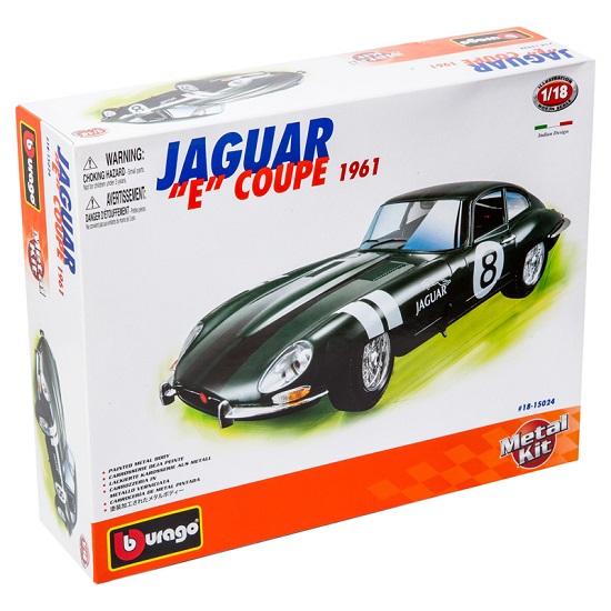 Bburago Машина для сборки Jaguar E Coupe (1961)Машина для сборки Jaguar E Coupe (1961)Машина Bburago Сборка в ассортименте – это копия настоящего автомобиля с полной детализацией всех частей, 1:18  Игрушка выполнена из высококачественного металла и пластика. Детали и края аккуратно обработаны.   Коллекционные машинки Бураго развивают у ребенка развивают координацию движений и меткость, пространственное и образное мышление, воображение, мелкую моторику. С мини-модельками автомобилей Bburago игра станет настолько увлекательной, что оторваться будет невозможно!   Компания Bburago – мировой лидер в производстве коллекционных моделей автомобилей. Более 30 лет профессиональные дизайнеры Bburago разрабатывают точные копии современных машин и ретро машин известных марок. С автомобилями Bburago можно не только играть, но и сделать их частью своей коллекции!<br>