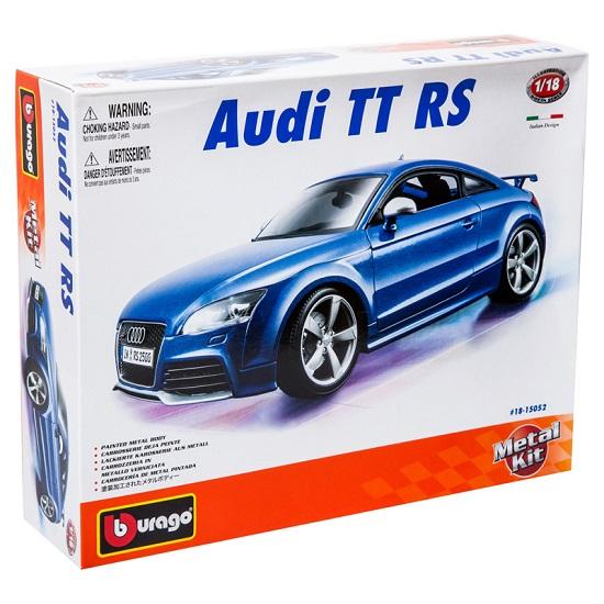 Bburago Машина для сборки Audi TT RSМашина для сборки Audi TT RSМашина Bburago Сборка AUDI TT RS – это копия настоящего автомобиля с полной детализацией всех частей, 1:18  Игрушка выполнена из высококачественного металла и пластика. Детали и края аккуратно обработаны.   Коллекционные машинки Бураго развивают у ребенка развивают координацию движений и меткость, пространственное и образное мышление, воображение, мелкую моторику. С мини-модельками автомобилей Bburago игра станет настолько увлекательной, что оторваться будет невозможно!   Компания Bburago – мировой лидер в производстве коллекционных моделей автомобилей. Более 30 лет профессиональные дизайнеры Bburago разрабатывают точные копии современных машин и ретро машин известных марок. С автомобилями Bburago можно не только играть, но и сделать их частью своей коллекции!<br>