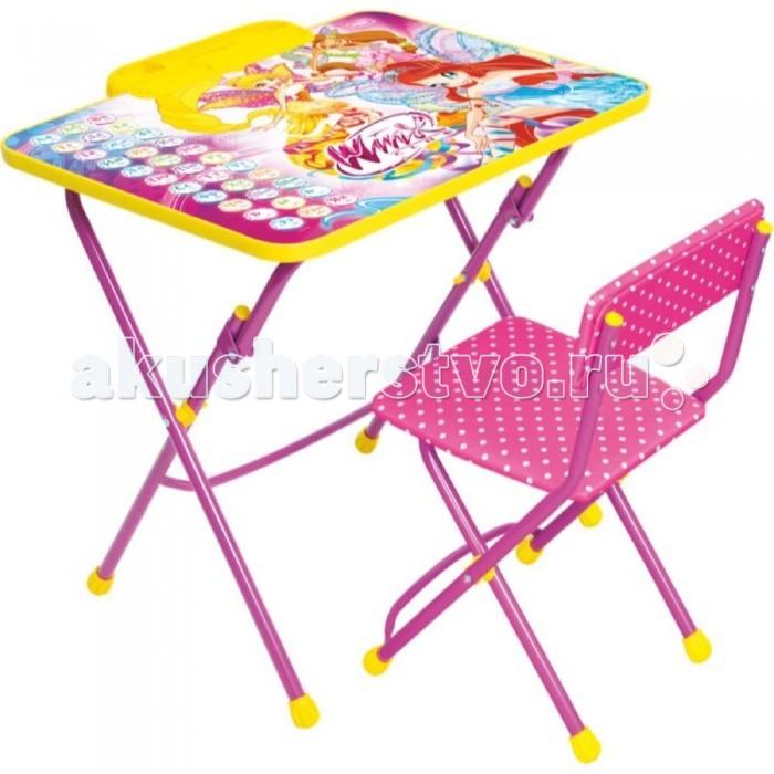 Столы и стулья Ника Набор мебели Winx 3 Азбука набор складной мебели пуфик 2шт стол orange 82305
