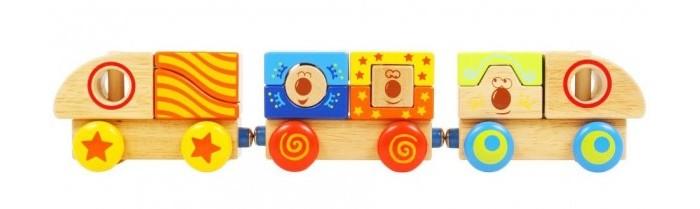 Деревянные игрушки Vulpi - wood конструктор Поезд 15014 toys lab конструктор цирковой поезд
