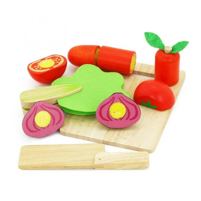 Деревянные игрушки Vulpi - wood набор Овощи 17012 набор овощей совтехстром овощи в сетке