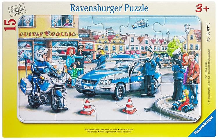 Пазлы Ravensburger Пазл Полиция 15 элементов пазлы ravensburger пазл коровы на лугу 15 элементов