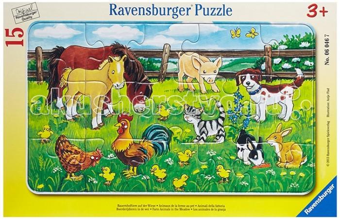 ravensburger пазл на лугу 37 деталей ravensburger Пазлы Ravensburger Пазл Животные на лугу 15 элементов