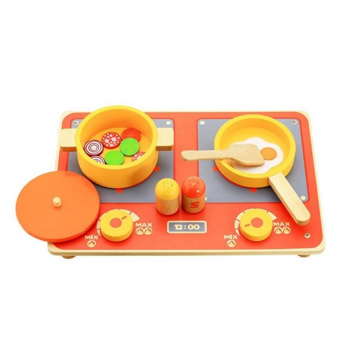 Vulpi - wood Деревянный набор КухняДеревянный набор КухняVulpi - wood Деревянный набор Кухня, игрушка окрашена в яркие цвета нетоксичными, безопасными красками. В набор входят различные кухонные приборы и плита, которые развивают подвижность пальцев рук ребенка.   Увлекательная сюжетная игра поможет вашему ребенку развить воображение и фантазию. В набор входит деревянная плита, сковородка, кастрюля, лопаточка и другие детали.<br>