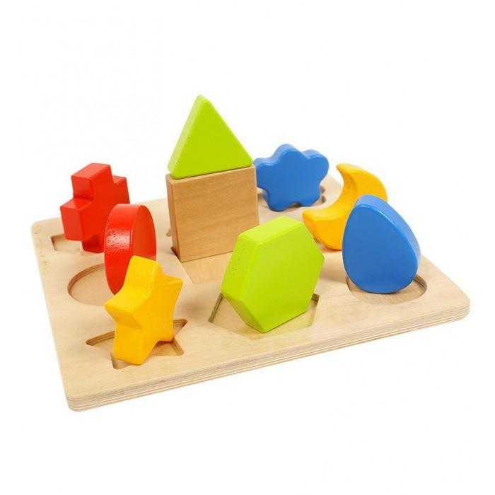 Деревянные игрушки Vulpi - wood доска-сортер сортер развивайка изучаем формы