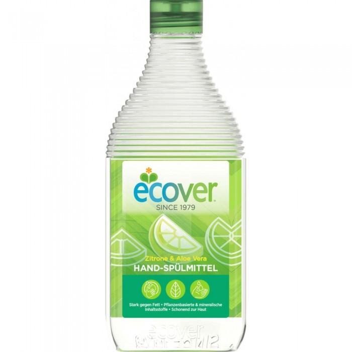 Бытовая химия Ecover Экологическая жидкость для мытья посуды с лимоном и алоэ-вера   500 мл жидкость для мытья посуды aos бальзам алоэ вера 500 мл