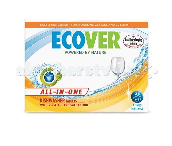 Бытовая химия Ecover Таблетки для посудомоечной машины 3 в 1 500 г таблетки для посудомоечной машины clean