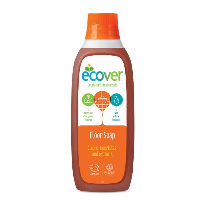 Бытовая химия Ecover Жидкий концентрат с льняным маслом для мытья пола 1000 мл жидкий концентрат для мытья пола ecover с льняным маслом 1 л