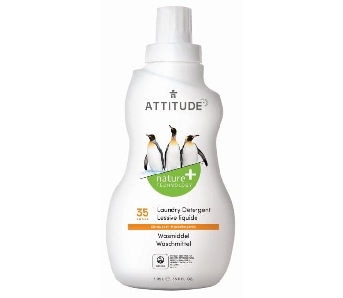 Бытовая химия Attitude Концентрированная жидкость для стирки Цитрус Зест 1040 мл, Бытовая химия - артикул:33763