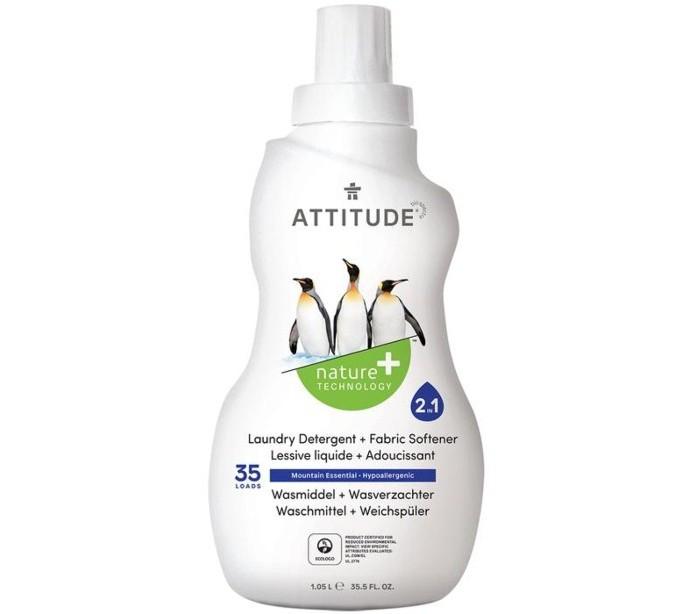 Гигиена и здоровье , Бытовая химия Attitude Концентрированная жидкость для стирки 2 в 1 Маунтин Эссеншиалз 1040 мл арт: 33764 -  Бытовая химия