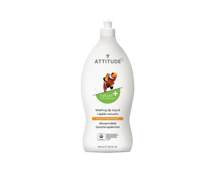 Бытовая химия Attitude Средство для мытья посуды Цитрус Зест 700 мл attitude средство для мытья посуды без запаха eco baby