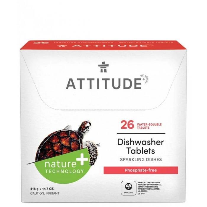 Бытовая химия Attitude Таблетки для посудомоечных машин All in one 26 шт.