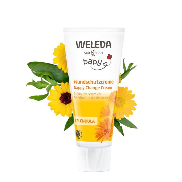 Косметика для новорожденных Weleda Крем для младенцев с календулой для защиты кожи в области пеленания 75 мл косметика для новорожденных logona увлажняющий крем для младенцев с календулой 100 мл