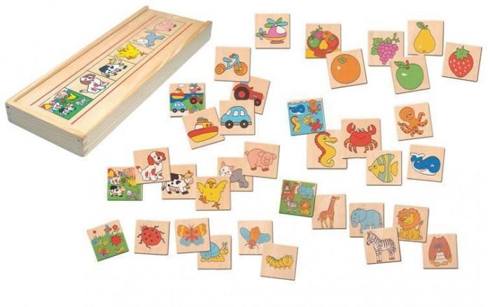 Деревянные игрушки Bino Игра Что к чему относится 88094 аксессуары bino браслет фрукты 9989057