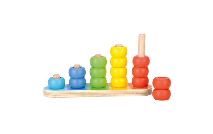 Деревянные игрушки Bino Обучающая пирамидка деревянные игрушки теремок пирамидка квадрат