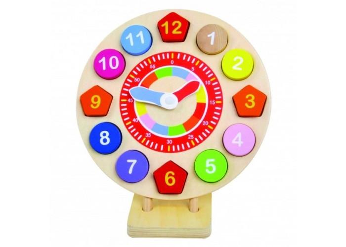 Деревянная игрушка Bino Пазл-вкладыш Часы