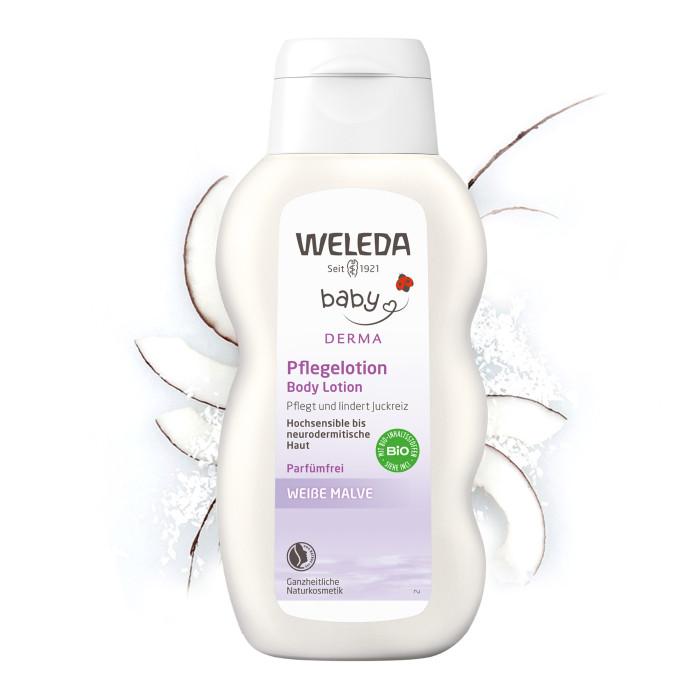 Гигиена и здоровье , Косметика для новорожденных Weleda Молочко для гиперчувствительной кожи тела с алтеем 200 мл арт: 33826 -  Косметика для новорожденных