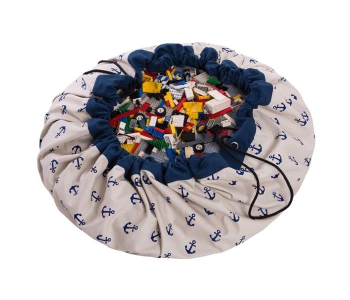 Ящики для игрушек, Play&Go 2 в 1: мешок для хранения игрушек и игровой коврик Якоря  - купить со скидкой