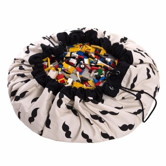 Детская мебель , Ящики для игрушек Play&Go 2 в 1: мешок для хранения игрушек и игровой коврик Усы арт: 338525 -  Ящики для игрушек