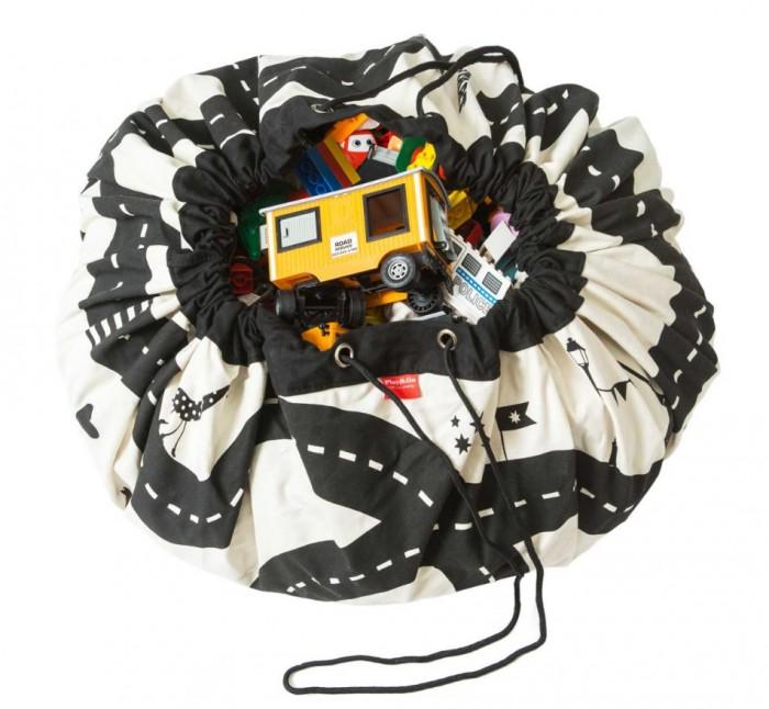 Детская мебель , Ящики для игрушек Play&Go 2 в 1: мешок для хранения игрушек и игровой коврик Дорожная карта арт: 338555 -  Ящики для игрушек