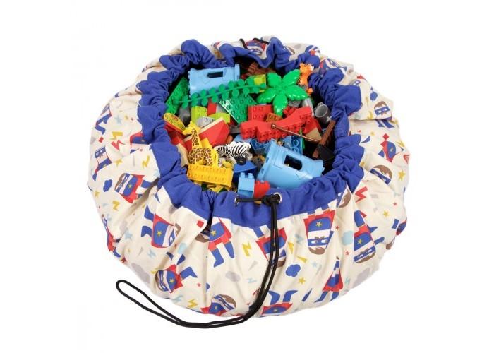 Детская мебель , Ящики для игрушек Play&Go 2 в 1: мешок для хранения игрушек и игровой коврик Супергерой арт: 338575 -  Ящики для игрушек