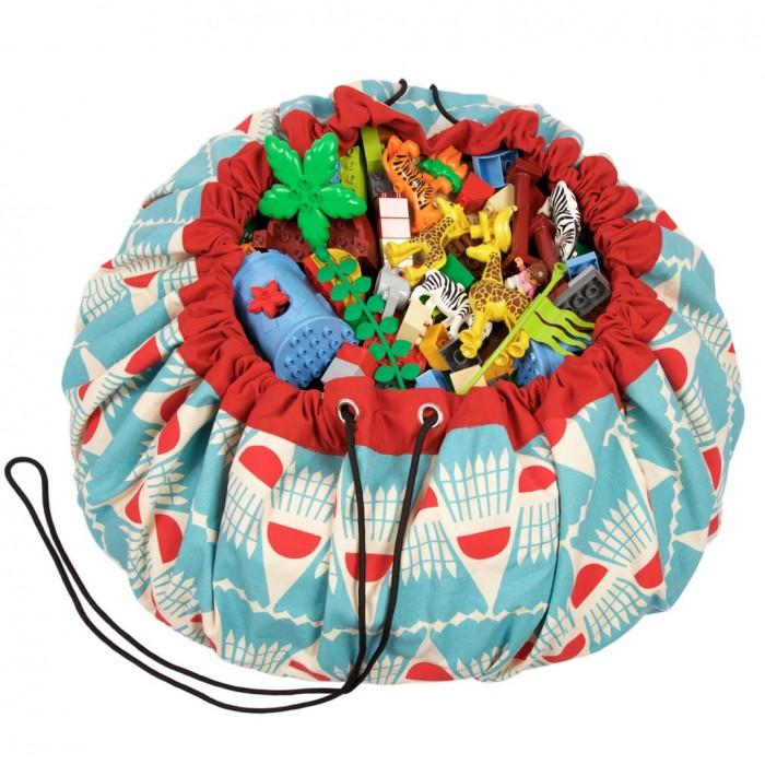 Детская мебель , Ящики для игрушек Play&Go 2 в 1: мешок для хранения игрушек и игровой коврик Бадминтон арт: 338580 -  Ящики для игрушек