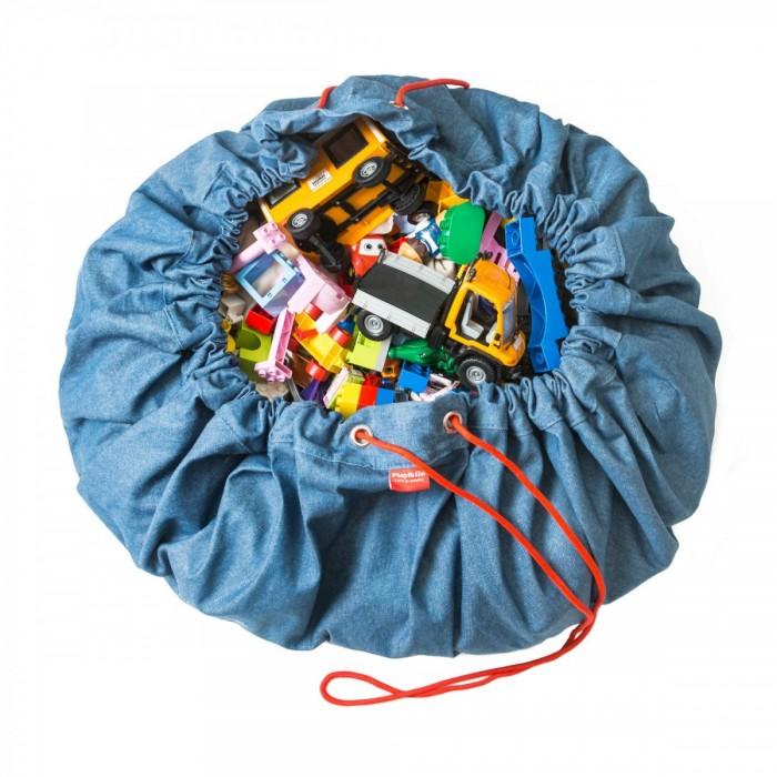 Детская мебель , Ящики для игрушек Play&Go 2 в 1: мешок для хранения игрушек и игровой коврик Джинс арт: 338585 -  Ящики для игрушек