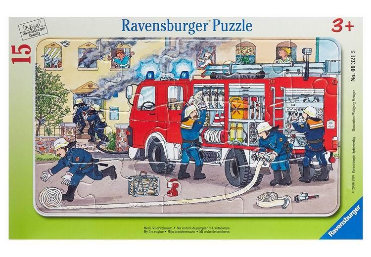 Пазлы Ravensburger Пазл Пожарная машина 15 элементов пазлы ravensburger пазл полиция 15 элементов