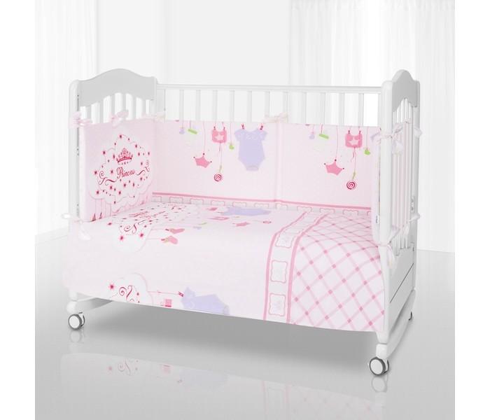 Комплект в кроватку Eco Line Princess (6 предметов)Princess (6 предметов)Комплект в кроватку Eco Line Princess (6 предметов) здоровый сон новорожденного ребенка зависит от множества факторов.   Очень важно, чтоб ребенок в течении дня не перевозбудился и полученный эмоциональный всплеск не помешал ему спокойно засыпать. Однако немаловажным аспектом для отдыха малыша является наличие хорошего и качественного постельного.  Eco Line - это российский производитель очень качественных, а главное экологически чистых комплектов белья для детской кроватки. Они отвечают всем предъявляемым санитарным нормам. Однако, после игр не помешает и отдохнуть, чтоб восстановить силы для новых свершений.  Все материалы, использованные для создания этого замечательного комплекта, прошли строгую проверку отдела качества компании на натуральность, экологическую чистоту, а главное несомненную гипоаллергенность. Поэтому данный набор является абсолютно безопасным при использовании в качестве постельного белья для детской кроватки.  Комплект может применяться для кроваток с размерами 120 х 60 и 125 х 65 см.  В комплект входят: наволочка - 40 х 60 см  пододеяльник - 110 х 140 см простынка  - 120 х 60 и 125 х 65 см. съемный бортик подушка - 40 х 60 см одеяло - 110 х 140 см<br>