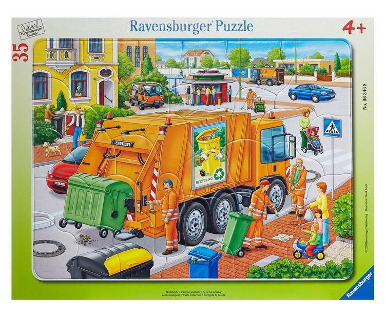 Пазлы Ravensburger Пазл Вывоз мусора 35 элементов