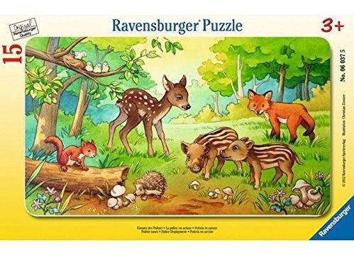 Пазлы Ravensburger Пазл Детеныши животных в лесу 15 элементов ravensburger пазл лето в деревне 15 деталей ravensburger