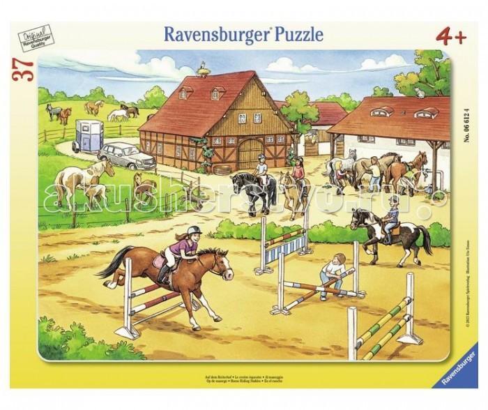 ravensburger пазл на лугу 37 деталей ravensburger Пазлы Ravensburger Пазл Верховая езда 37 элементов