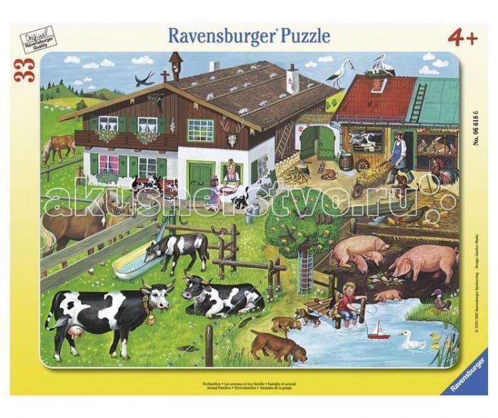 Пазлы Ravensburger Пазл Животные на ферме 33 элемента