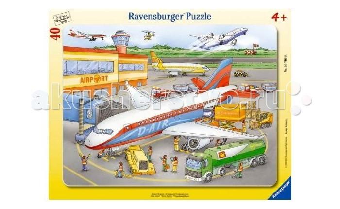 Пазлы Ravensburger Пазл Маленький аэропорт 40 элементов пазлы origami пазл дм зайчик и волчонок 25 элементов