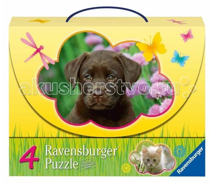 Пазлы Ravensburger Пазл 4 в 1 Детеныши животных 2х25 и 2х36 элементов детеныши животных