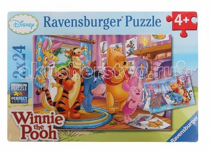 Пазлы Ravensburger Пазл Пятачок и его друзья 2х24 элементов ravensburger пазл друзья у окна 500 деталей