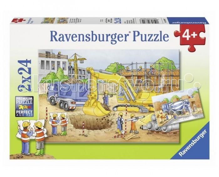 Пазлы Ravensburger Пазл Стройплощадка 2х24 элементов плед cleo арт 143 pb 200х220 см