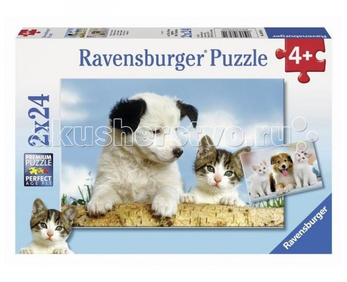 Пазлы Ravensburger Пазл Настоящие друзья 2х24 элементов