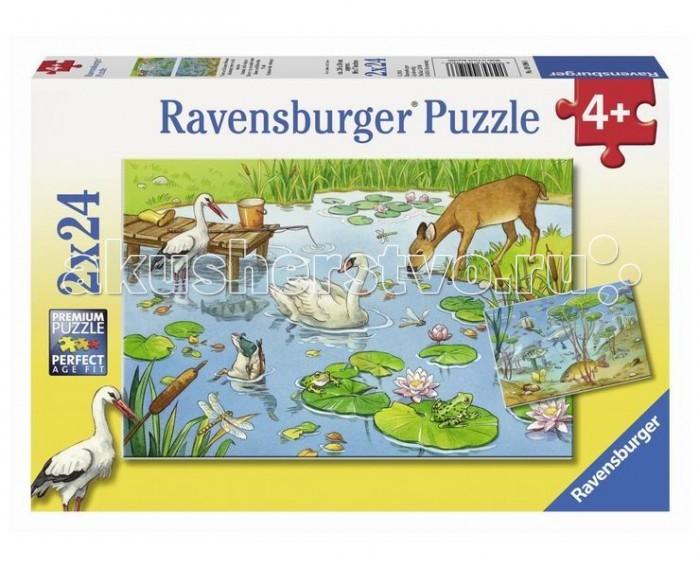 Пазлы Ravensburger Пазл На пруду 2х24 элементов