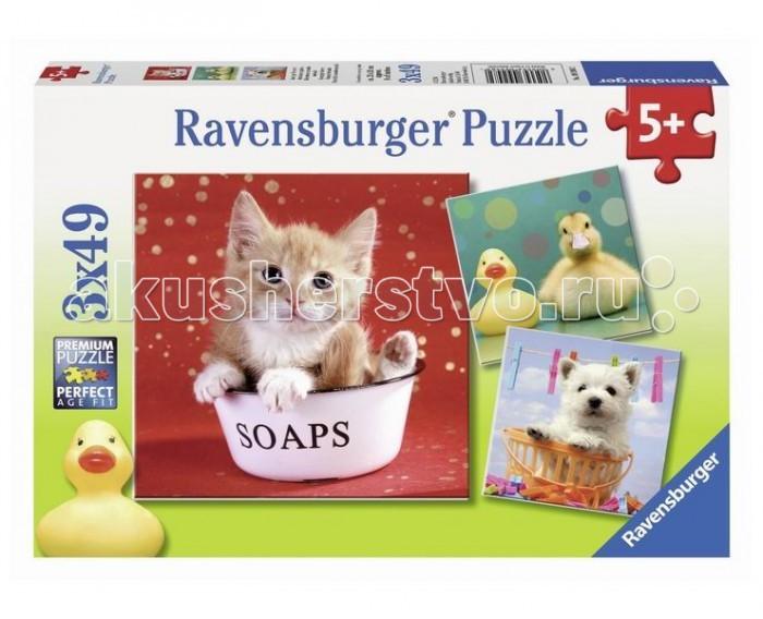 Пазлы Ravensburger Пазл Забавные животные 3х49 элементов