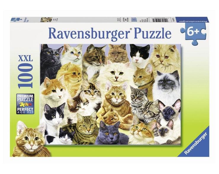 Пазлы Ravensburger Пазл Парад кошек 100 элементов парад комедий слуга двух господ page 3