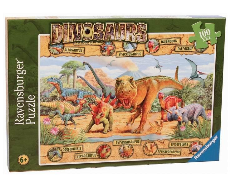 Ravensburger Пазл Динозавры 100 элементов
